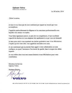 Testimonial - Uptown Volvo