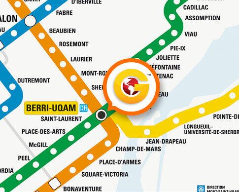 Berri-Uqam Metro Station