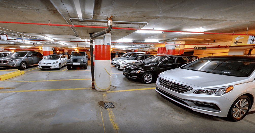 Indoor car rental delivery