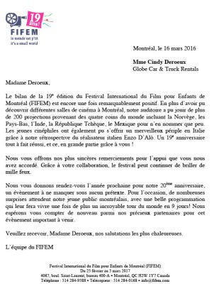 FIFEM Thank-you Letter