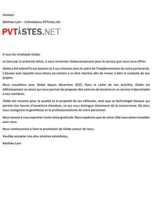 PVTISTES.NET - Thank-you Letter